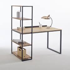 <b>Стол письменный</b>-шкаф из металла и массива дуба hiba черный ...