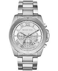 michael kors mens watches macy s michael kors men s chronograph brecken stainless steel bracelet watch 44mm mk8562