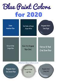 blue paint colors 2020 interiors by color