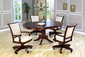 amazing rolling dining room chairs chair casters on for with remodel oak awesome ious parsons at