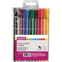 <b>Линер Attache Rainbow</b> 12 цветов 0,4мм купить с доставкой по ...