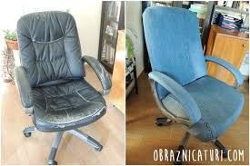 old office chair. Fancy Makeover Jeans Cover For An Office Chair Old A