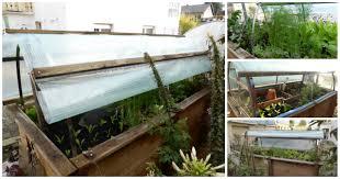 Vom Hochbeet Zum Mini Gew Chshaus Dach Selber Bauen