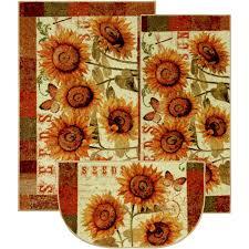 sunshine seeds three piece kitchen rug set free structures 3 piece kitchen rug set