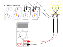 parallel batteries dc circuits electronics textbook add one battery at a time in parallel noting the lamp voltage the addition of each new parallel connected battery