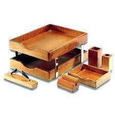wooden desk accessories desk accessories set wood office desk accessories