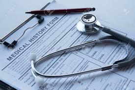 Medical Stethoscope Lying On Cardiogram Chart Closeup Medical