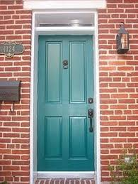 Turquoise front door Teal Front Door Colors With Red Brick House Google Search Shade Is Maybe Bit Pinterest 50 Best Turquoise Front Doors Images Antique Doors Blue Doors