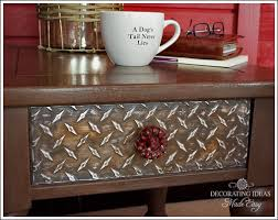 industrial diy furniture. Diy Industrial Style Furniture, Painted I Found Some Diamond Plate Sheets At The Furniture
