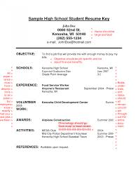 High School Resume Examples Resumes For College Applications Pdf
