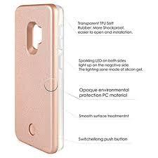 Light Up Samsung S9 Case Light Up Luminous Selfie Flashlight Cell Phone Case Rose