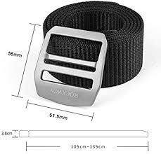 YD Tactical Belt <b>Titanium Alloy Metal</b> Allergy Tactics Outdoor Belt ...