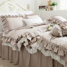 elegant duvet covers. Contemporary Elegant New European Khaki Bedding Set Double Ruffle Lace Duvet Cover  Elegant Bedspread Bed Sheet For On Elegant Duvet Covers N