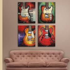 amazon music wall art abstract guitar canvas prints art home decor for living on guitar canvas wall art red with amazon music wall art abstract guitar canvas prints art home