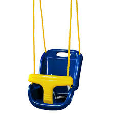 gorilla playsets blue infant swing with high back