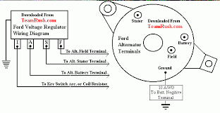 4 wire alternator wiring diagram ford01 photo ravishing here for how to connect an alternator to charge a battery at Wiring A Alternator Diagram