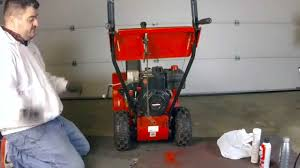 MTD Yard Machine snow blower maintenance & oil change - YouTube