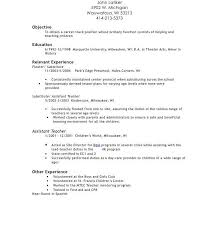 Sample Resume For Teacher Assistant With No Experience   Templates Resume    Glamorous How To Update A Resume Examples    Interesting     Spanish Teacher Cover Letter No Experience Mytemplate Beautiful Sample  Resume For Preschool Teacher With No Experience