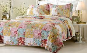 Multicolor Comforters and Quilts Sale – Ease Bedding with Style & 3pc Prairie Multi Color Printed Patchwork Quilt Set Adamdwight.com