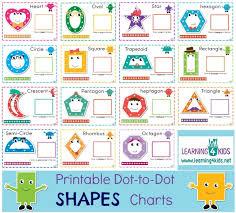Printable Dot To Dot Shapes Charts