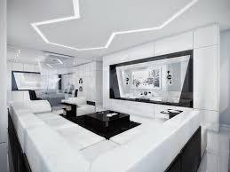 Interior Design White Living Room Black And White Contemporary Interior Design Ideas For Your Dream