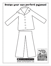 Pajama Coloring Page Coloring Pages For Kids And For Adults
