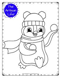 When you shop through the affiliate links, it doesn't influence the cost you pay. 20 Free Printable Winter Animal Coloring Pages For Kids The Artisan Life