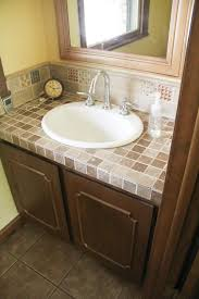 how to paint a tile vanity