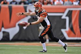 Back On - Goes Video Behind Punter Attempt Bengals' The Huber Kevin Punt