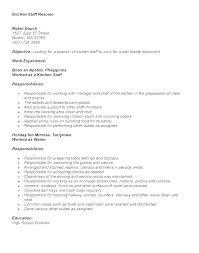 Resume Kitchen Hand Joefitnessstore Com