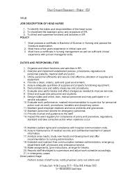 head nurse job description critical care nurse job description responsibilities
