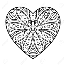 Small Picture Heart Mandala Coloring Book Coloring Coloring Pages