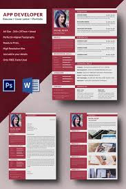 Resume Portfolio Template Best of App Developer Resume Cover Letter Portfolio Template Free