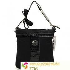 Coach Legacy Swgpack Signature Medium Crossbody Bags In Black