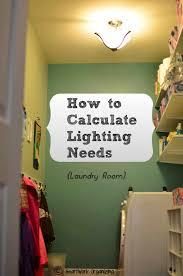 Laundry room lighting Flush Mount Laundryroomlightingpinablejpg Heartwork Organizing How To Calculate Lighting Needs