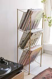 corner vinyl record rack