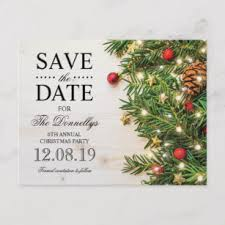 Christmas Party Save The Date Templates Holiday Christmas Party Save The Date Announcement Postcard