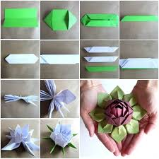 How To Make A Lotus Flower Out Of Paper This Origami Lotus Is Fun And Easy To Make Use Your