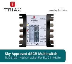 triax tmds 42c dscr multiswitch for sky q™ DirecTV HR22-100 Wiring at Triax Multiswitch Wiring Diagram