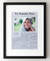 60th birthday newspaper gift