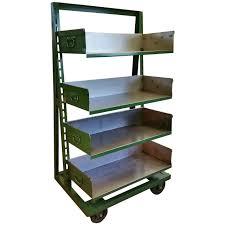 Industrial A-Frame Rolling Storage Unit Bookshelf with Adjustable Shelves 1