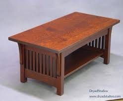 mission style coffee table plans oak mission arts crafts craftsman style round coffee table