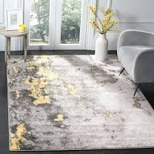 grey yellow area rug contemporary grey yellow area rug 6 x 6 square on