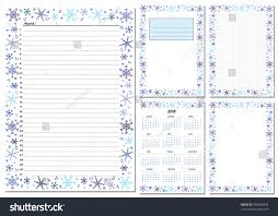 planner page template set pages template daily planner printable stock vector royalty