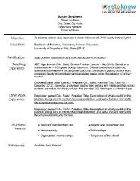 Middle School Teacher Resume Examples Grade School Teacher Resume ...