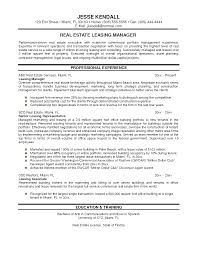 Property Manager Resume Objective New Resume Examples For Management