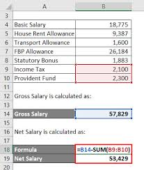 Monthly Paycheck Calculator Salary Formula Calculate Salary Calculator Excel Template