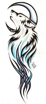 tribal wolf and moon drawing. Fine And Tattoo Tribal Line Stencils  Tribal Wolf Tattoo By Reighnmiyuki Image   Vector Clip Art Online  For And Moon Drawing G