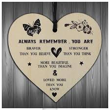 gifts for women friendship gift for her you are braver stronger smarter beautiful wooden