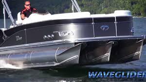 Fast Pontoon Boat Video Avalons Waveglider High Performance System 2014